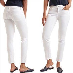 Vineyard Vines White Crop Straight Leg Jeans